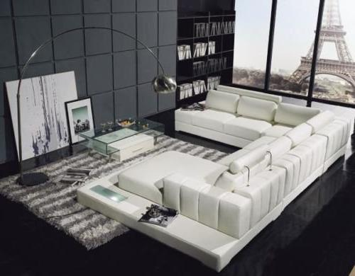 t63 white leather sectional sofa