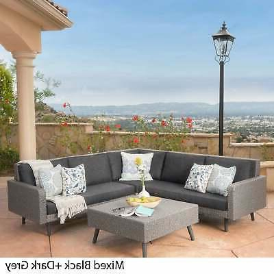 Tahiti 4-piece Wicker Sectional