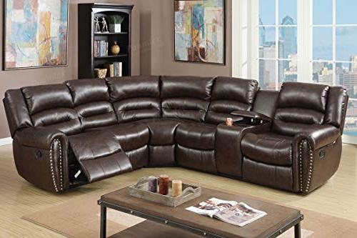 tamanna brown bonded leather reclining