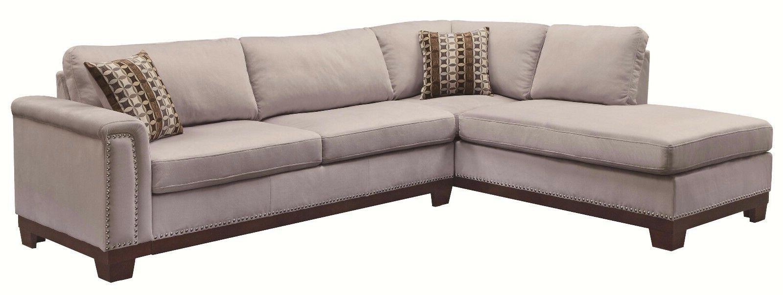 Transitional Sectional Set Blue Color Fabric Living Room Couch