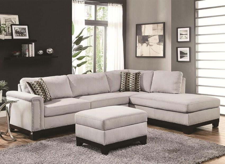 Incredible Transitional Sectional Sofa Set Blue Gray Color Velvet Bralicious Painted Fabric Chair Ideas Braliciousco