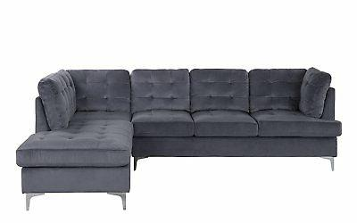 Tufted Velvet Large Sectional