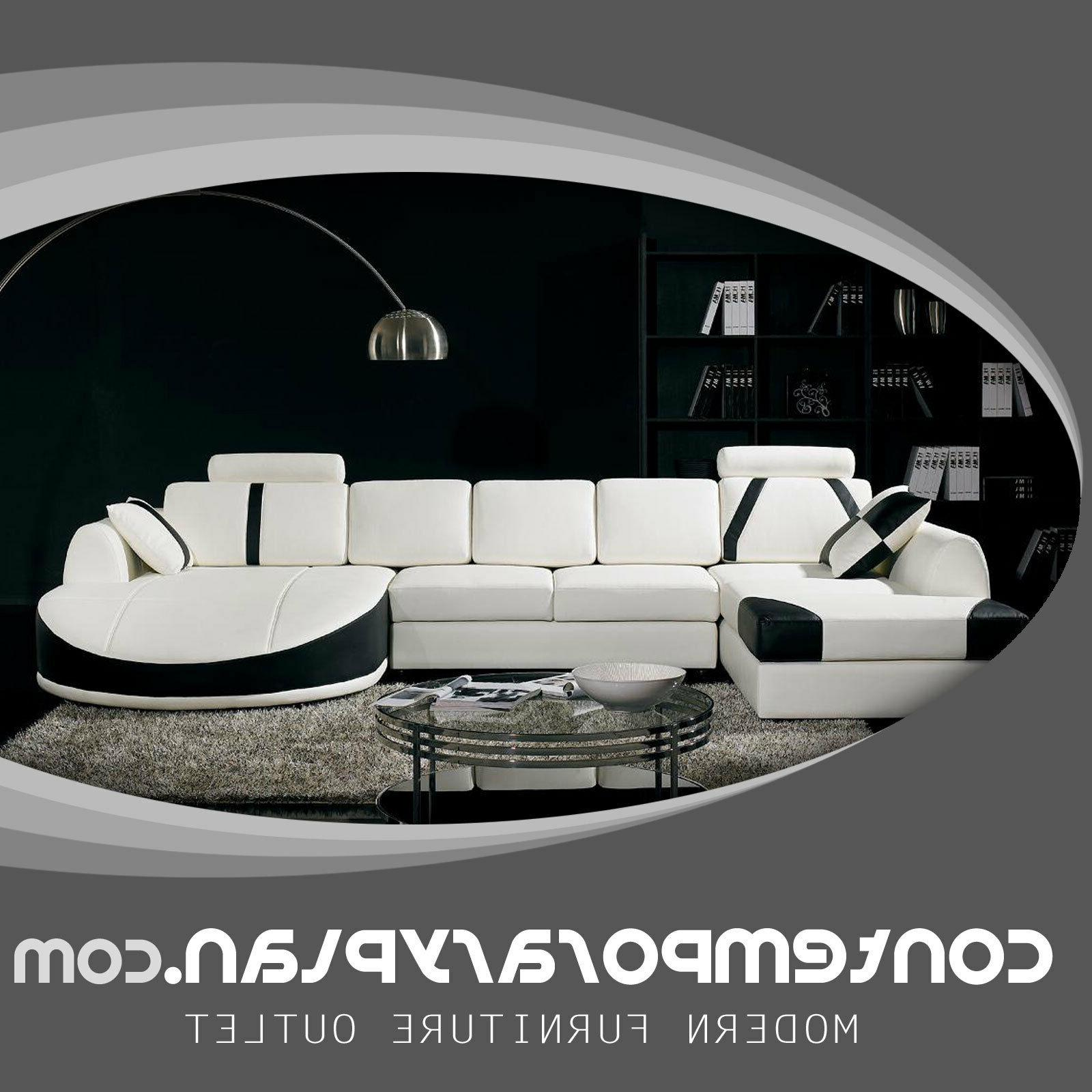 ultra contemporary leather sectional sofa with curved