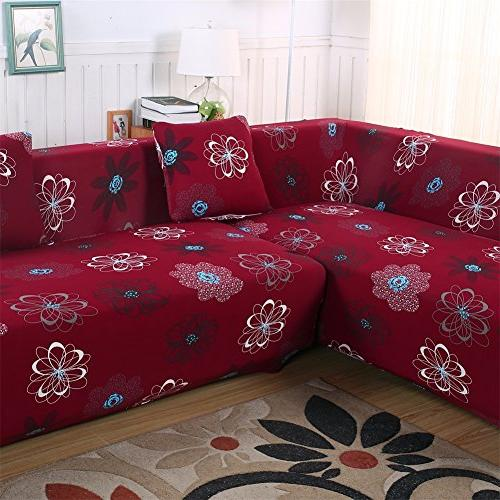 Beacon Universal Covers for L 2pcs Polyester Slipcovers + 2pcs Covers Sectional L-Shape