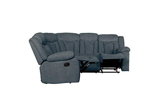 """Upholstered 88.1"""" Recliner Sectional Sofa"""