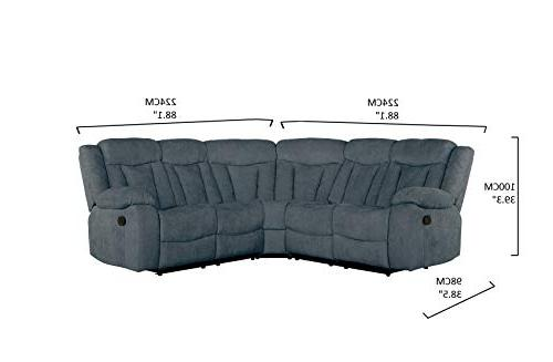 Upholstered Recliner Sectional