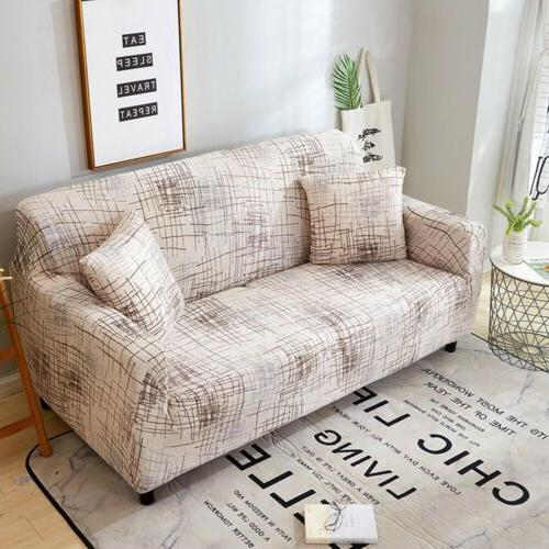 US Sofa Couch Removable Stretch Sectional Corner Slipcover