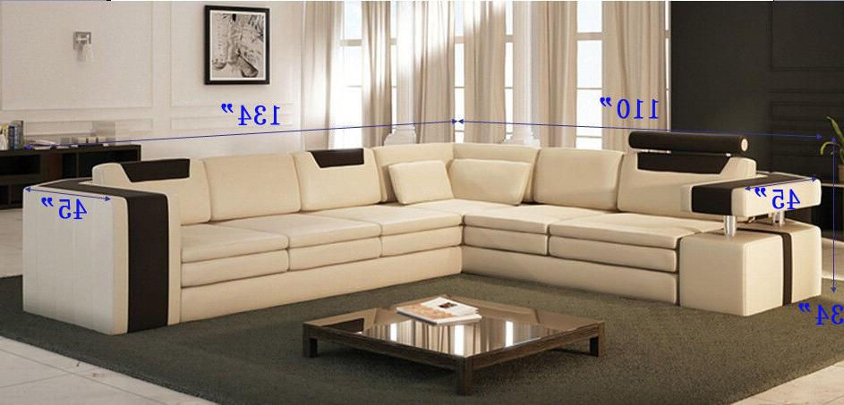 Vista Leather Sectional Sofa Contrasting