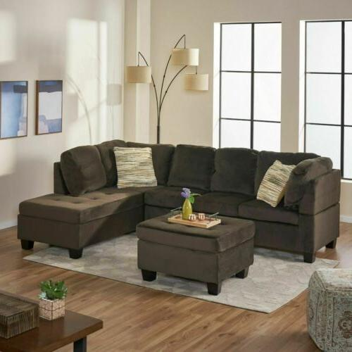 welsh chocolate fabric sectional sofa
