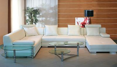 white bonded leather sectional sofa left special