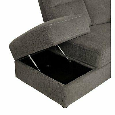 Furniture America Wilding Sectional Sofa Recliner and