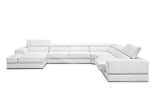 Limari Home Collection Leather Wood 4 Sofa Living Room, White