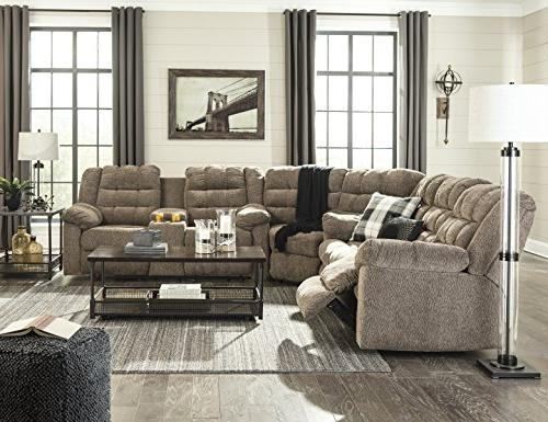workhorse contemporary cocoa fabric sectional