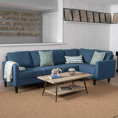 zahra 5 piece fabric sofa sectional by