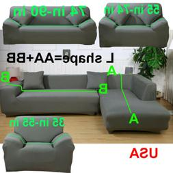 L Shape 1 2 3 4 Seater Stretch Cover Couch Slipcover for Sec