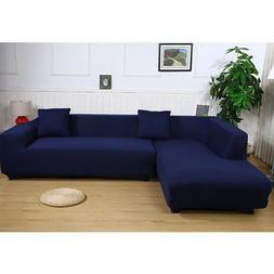 L Shape Stretch Elastic Sofa Cover Sectional Corner Couch Co