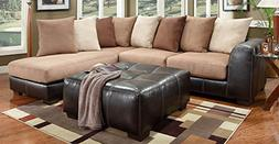 Chelsea Home Furniture Landon 2-Piece Sectional, Sea Rider S
