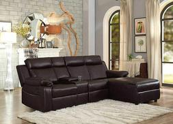 large reclining sectional sofa with recliner couch