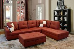 Beverly Fine Furniture Left Facing Russes Sectional Sofa Set