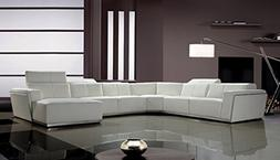Limari Home LIM-11997 Jordan Sectional Sofa, White