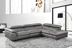 Limari Home LIM-74188 Maldonado Sectional Sofa Dark Grey