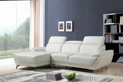 Living Room Furniture Sectional Sofa white Color Leather Cha