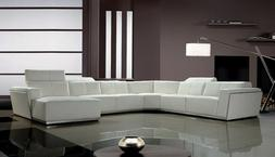 Living Room White Large Sectional Sofa Set Modern Couch Comf