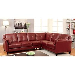 HOMES: Inside + Out Maddina Tufted Faux Leather Sectional, R