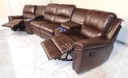 Seatcraft Madison 6-Piece Brown Home Theater Sectional Manua