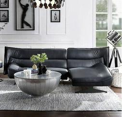 Acme Furniture Maeko Top Grain Dark Gray Leather Sectional S
