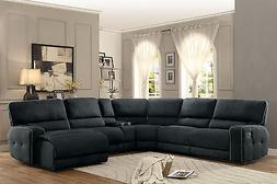 MAINER Modern Sectional Living Room Couch Set - NEW Gray Fab