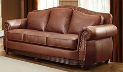 Midwood Collection Sofa in Dark Brown Bonded Leather by Home