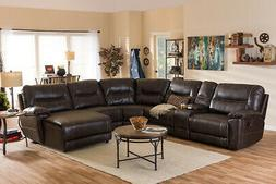 mistral 6 piece sectional with recliners corner