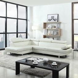 modern contemporary faux leather sectional