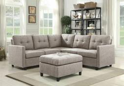 Modern Fabric Sectional Sofa Set Couch Assembly Microsuede R
