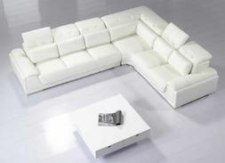 Modern Furniture- VIG- T93C - Modern White Leather Sectional