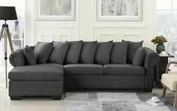Modern Large Sectional Sofa, L-Shape Couch, Extra Wide Chais