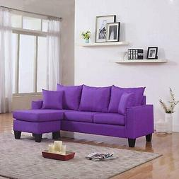 modern linen fabric small space sectional sofa