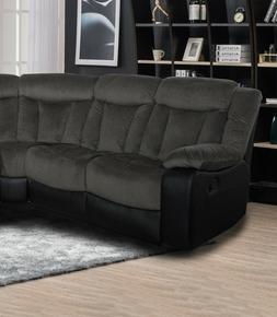 Modern Lovely Classic Grey Reclining Motion Sectional Sofa S