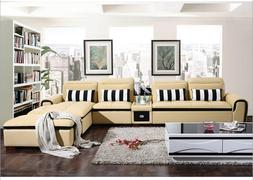 modern style living room Genuine leather <font><b>sofa</b></