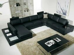 Modern unique design black or white Leather Sectional Sofa W