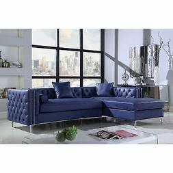 Chic Home Monet Button Tufted Sectional Sofa