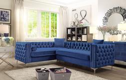 Iconic Home Mozart Right Hand Facing Sectional Sofa L Shape