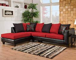Chelsea Home Furniture Mu 2-Piece Sectional, Jefferson Black