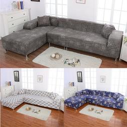 New 1 2 3 4 Sofa Cover Slipcover Couch Stretch For L-Shape S