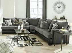 new large sectional living room gray fabric