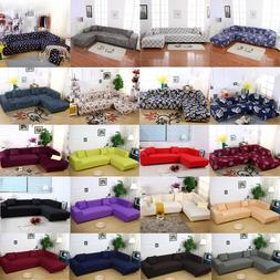 New Sofa Slipcover for Sectional L Shape Stretch Elastic Fab