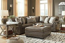 new traditional sectional living room taupe brown