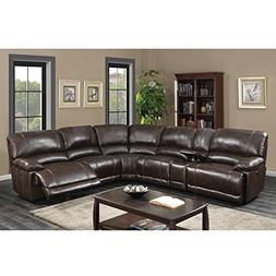 AC Pacific Olivia Transitional 6-Piece Sectional with 2 Powe