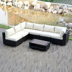 Option Outdoor Patio Furniture Couch Rattan Wicker Sectional